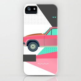 Retro Pink 80s Station Wagon iPhone Case