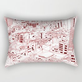Asakusa in Red Rectangular Pillow