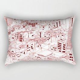 Asakusa in Red Rectangular Pillow