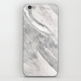 Castello silver marble iPhone Skin