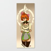 roosterteeth Canvas Prints featuring Penny Polendina from RWBY with Atlas Symbol. by Roanam
