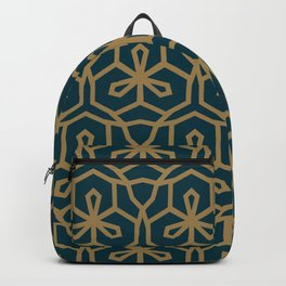 Green & Brown GeoMetric Backpack