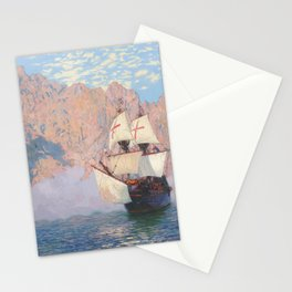 New Albion. Sir Francis Drake's ship Golden hind Stationery Cards