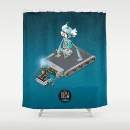 Tread Blew Clonks Shower Curtain