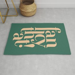 Fancy That Typographic Art Rug