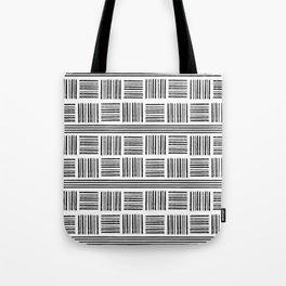 Black & White Line Pattern Tote Bag
