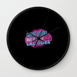 Gaming Violence Quote Best Gift Wall Clock
