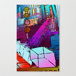 Courtyard of Thox Canvas Print