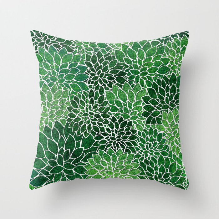 Floral Abstract 23 Throw Pillow