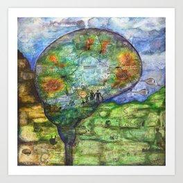 Neuronal Mind Art Print