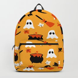 Happy halloween pots, ghosts and brooms Backpack