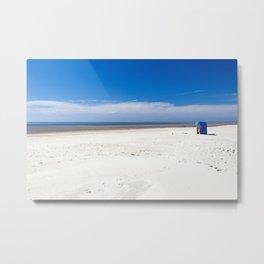 Beach chair at the North Sea Metal Print