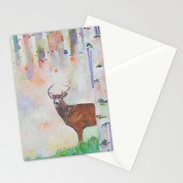 The relationship between a bear and a deer Stationery Cards