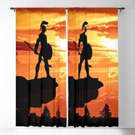 Spartan Warrior Cliff Blackout Curtain