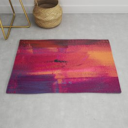 abstract silhouettes i the city Rug
