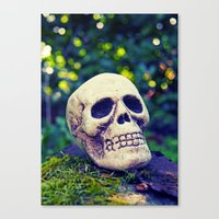 outdoor Canvas Prints featuring Outdoor skull by Vorona Photography