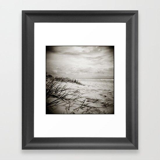 { sand, surf, sun } Framed Art Print