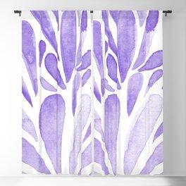 Watercolor artistic drops - lilac Blackout Curtain