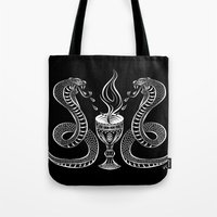 alchemy Tote Bags featuring Alchemy by kittycarnage