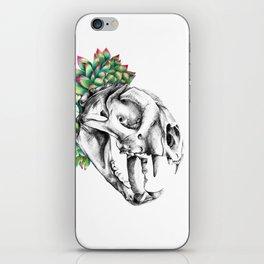 Rock Rose Cat Skull iPhone Skin