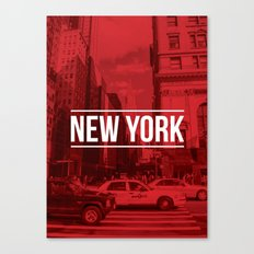 New York Red Canvas Print