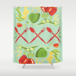 Cucina Italiana Shower Curtain