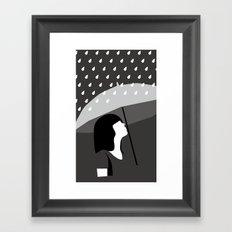 close to tears Framed Art Print