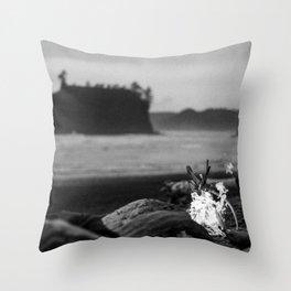 beach fire Throw Pillow