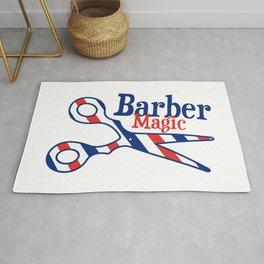 Barber Magic - red, white, blue Rug