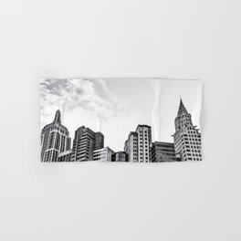 modern buildings at Las Vegas, USA in black and white Hand & Bath Towel