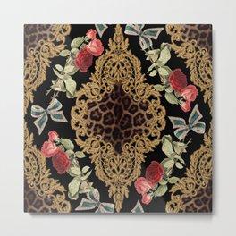 Lace Baroque Metal Print