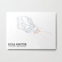 Rosa Khutor, Sochi, Russia - North American Edition - Minimalist Trail Art Metal Print