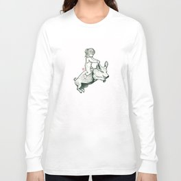 Girl on a flying pig Long Sleeve T-shirt