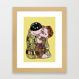 The Pig Kiss Framed Art Print