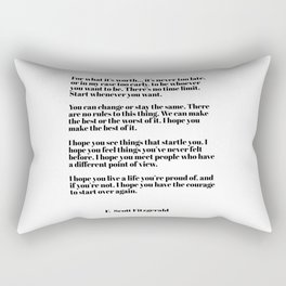 for what it's worth - fitzgerald quotes Rectangular Pillow