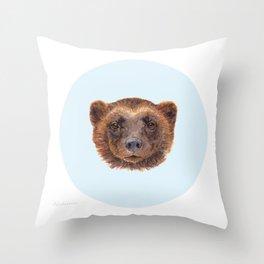 Wolverin (e) portrait Throw Pillow
