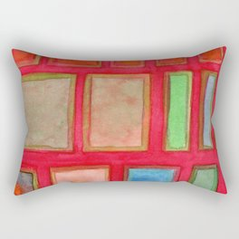 Some Chosen Rectangles ordered on Red Rectangular Pillow
