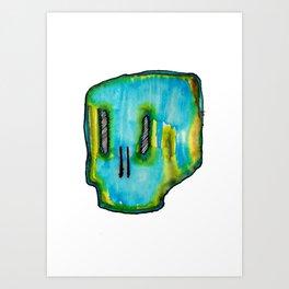Bloo skull Art Print