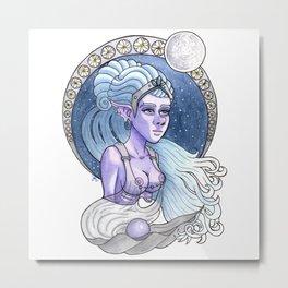 Moon Goddess Metal Print