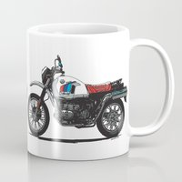 bmw Mugs featuring BMW R80GS PD by Ernie Young