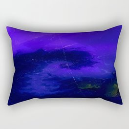 Deep Blue Aurora Rectangular Pillow