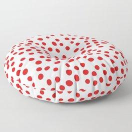 Red doodle dots Floor Pillow