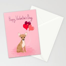 Chihuahua valentines day love hearts dog breed gifts cute chiwawa balloons pure breed Stationery Cards