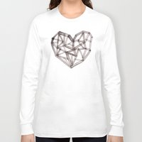 wooden Long Sleeve T-shirts featuring Wooden Heart by Picomodi