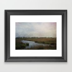 Flat Land Framed Art Print