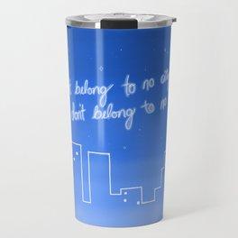 Hurricane Lyrics Travel Mug