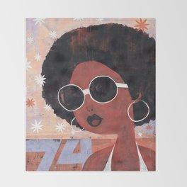 Afro 74 Throw Blanket