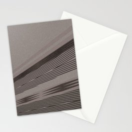 Abstract asymmetrical pattern in beige tones . Stationery Cards