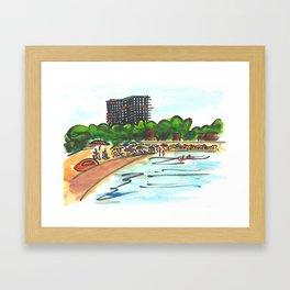 Platja d'Aro. (Summertime). Framed Art Print