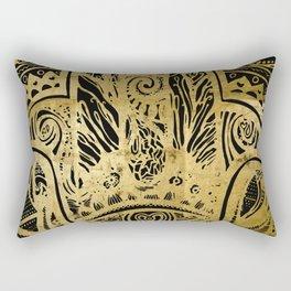 Zen Gold, Fatima´s Hand Rectangular Pillow